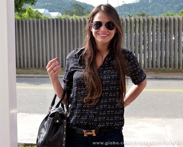 Bruna Marquezine chega para ensaiar (Foto: Domingão do Faustão / TV Globo)
