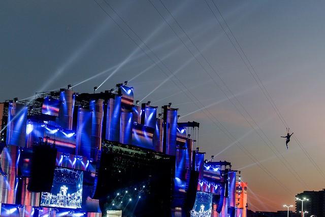 Tirolesa: atração já é um clássico do festival (Foto: Rock in Rio / Flickr)