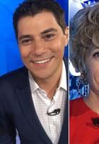 Poliana Abritta e Evaristo Costa 'envelhecem' após 3 horas de make