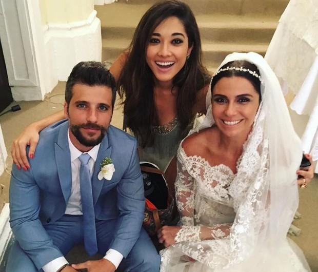 Bruno Gagliasso, Jacqueline Sato e Giovanna Antonelli (Foto: Reprodução/Instagram)