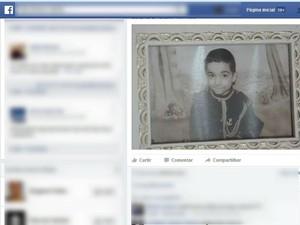 Pai achou o corpo do filho no domingo (Foto: Reprodução/Facebook)