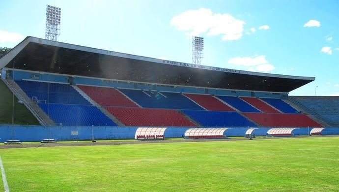 estádio do Café  Londrina Palmeiras (Foto: Marcelo Hazan)