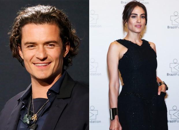 Orlando Bloom e Luisa Moraes (Foto: Orlando Bloom - Manuela Scarpa/Photo Rio News)