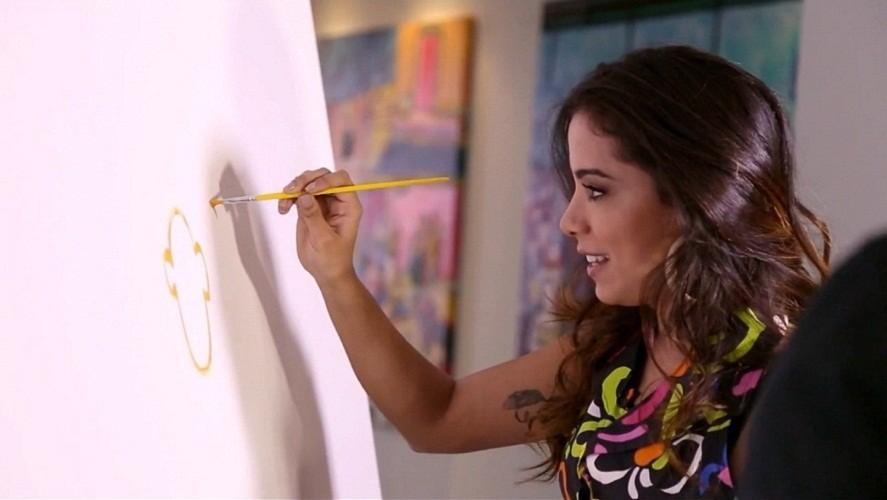 Anitta fazendo arte! (Foto: Gshow)