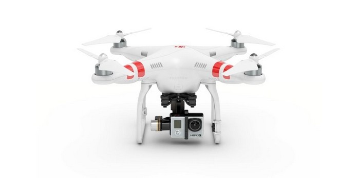Drone Phantom 2, da DJI, levando uma GoPro Hero 3 (Foto: Divulgação/GoPro)