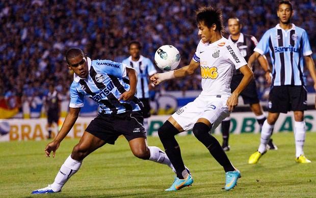 Neymar na partida do Santos contra o Grêmio (Foto: Futura Press)