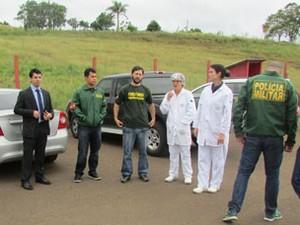 Operação começou na manhã desta segunda-feira  (Foto: MPSC/Divulgação)