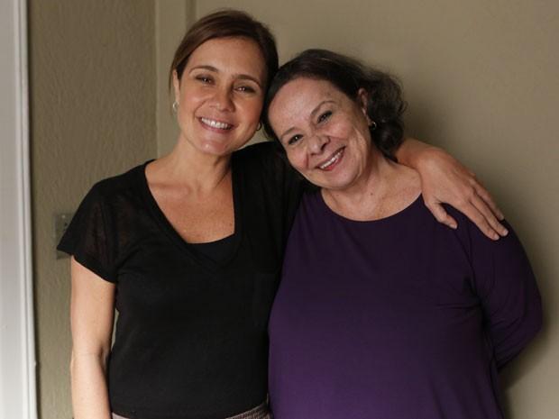 Adriana Esteves e Débora Duarte juntas em Babilônia (Foto: Gshow)