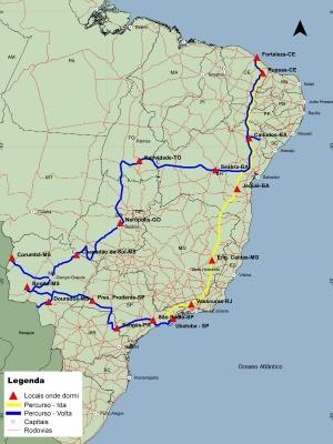 Foram quase 11 mil quilômetros de viagem em 18 dias na estrada (Foto: Caio Bezerra/Arquivo pessoal)