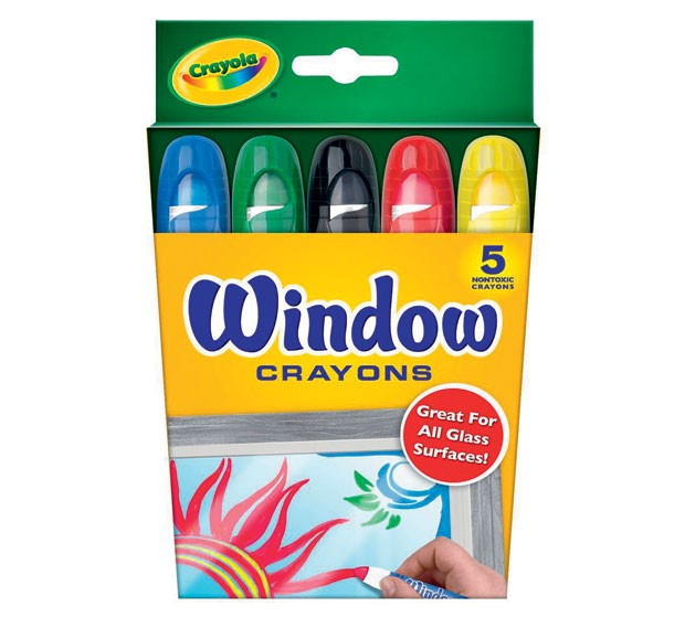 2. Giz de Cera para Vidro (5 cores). Da Crayola, R$ 31,90. (Foto: Divulgação)