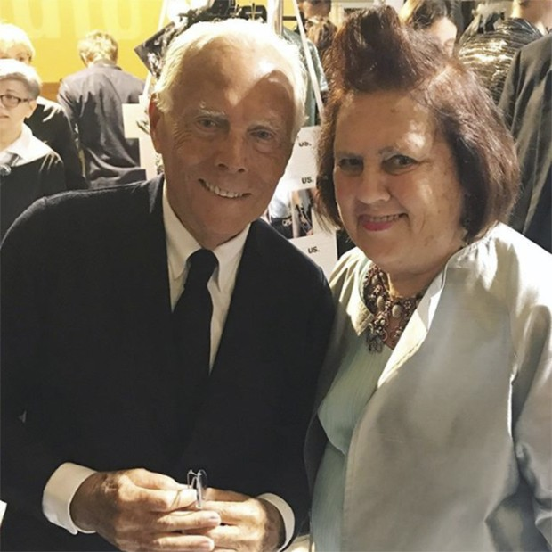 Dearest Giorgio - always full of enthusiasm for his Armani Prive work (Foto: @suzymenkesvogue)