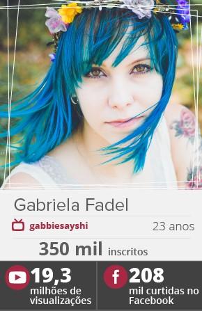 A youtuber Gabriela Fadel, a Gabbie (Foto: Divulgação)