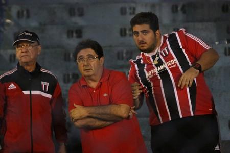 Gerson Engracia Garcia, presidente do Botafogo-SP, ary Engracia, diretor (Foto: Rogério Moroti / Agência Botafogo)