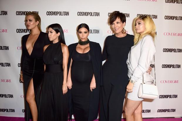Família Kardashian vai a festa de revista (Foto: Getty Images / AFP)