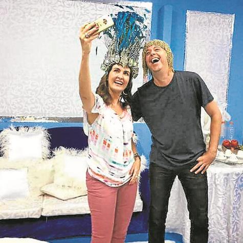 Fátima Bernardes e Alex Escobar se preparam para o primeiro ano como dupla de apresentadores do carnaval  (Foto: Arquivo pessoal)