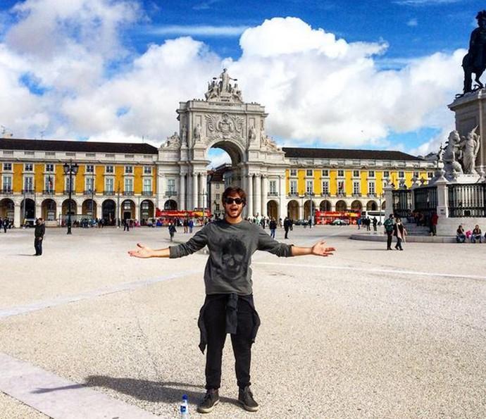 Rafael Vitti se diverte na Europa durante as férias (Foto: Arquivo Pessoal)