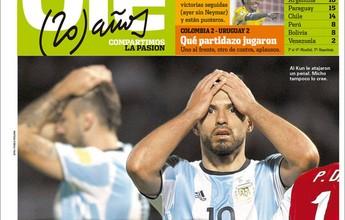 """Jornal convoca a """"rezar para Messi"""", e Di María lamenta: """"Ele sempre resolve"""""""