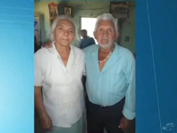 Francisco Timóteo Santos tinha 85 anos, e Inês Emília dos Santos, 78 (Foto: TV Verdes Mares/Reprodução)