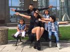 Dani Souza conta como é a rotina com Dentinho e os três filhos na Ucrânia