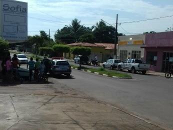 Dois foram presos após assaltos a agência dos Correios em Acorizal (MT) (Foto: Washington Júnior/Arquivo pessoal)