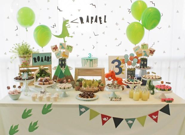 Mesa do aniversário de 3 anos do Rafael (Foto: Arquivo Pessoal)