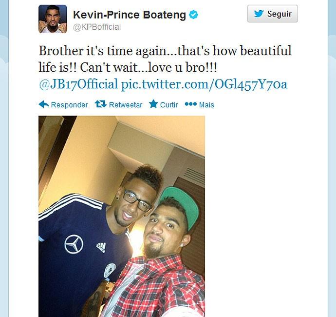 Kevin Prince Boateng eo irmão Gana x Alemanha (Foto: Reprodução / Twitter)