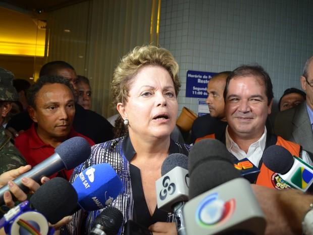Dilma no Acre (Foto: Yuri Marcel/G1)