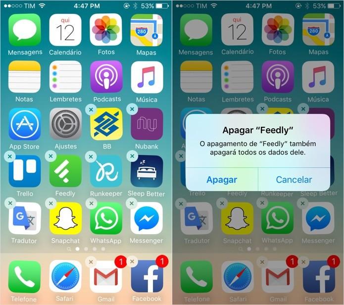 Desinstale os aplicativos que você não usa (Foto: Foto: Reprodução/Helito Bijora)