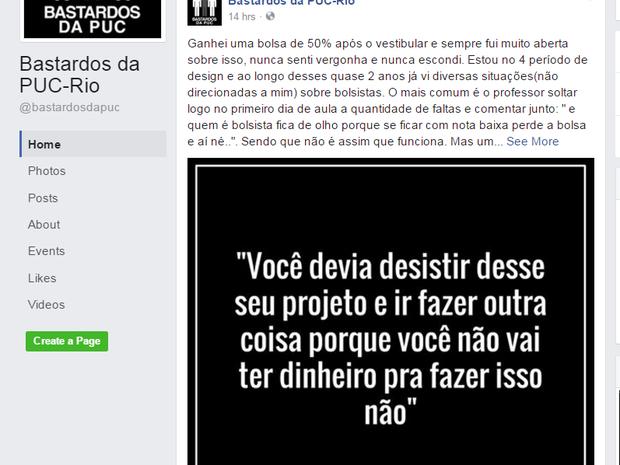 G1 - Alunos bolsistas da PUC-Rio relatam preconceito em rede social ... db899cba63