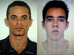 Motorista André e Rodrigo, passageiro que o agrediu, segundo testemunhas (Foto: Reprodução / TV Globo)