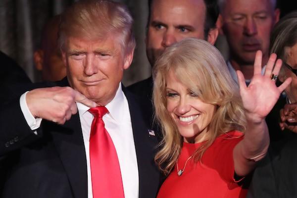 Kellyane Conway e o presidente dos EUA, Donald Trump (Foto: Getty Images)
