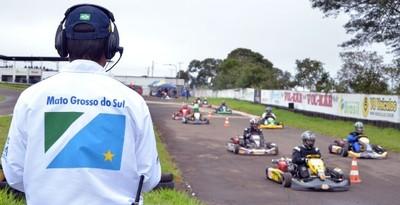 Etapa estadual de kart Campo Grande (Foto: Divulgação/FAMS)
