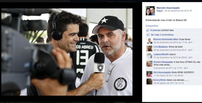 FACEBOOK - Marcelo Salles Assumpção e Maurício Assumpção, presidente do Botafogo (Foto: Reprodução / Facebook)