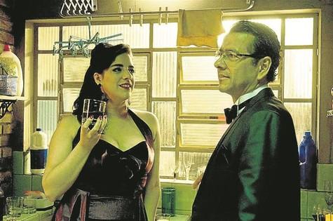 Marcos Palmeira com Martha Nowill no filme 'A noite da virada' (Foto: Mujica)