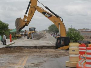 Ponte na BR-324 foi reconstruída e via liberada (Foto: Alberto Coutinho/GOVBA)