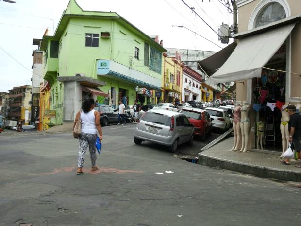 Rua dos Andradas, Centro de Manaus (Foto: Adneison Severiano/G1 AM)