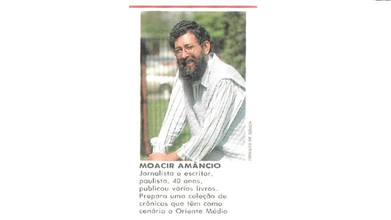 Moacir Amâncio é jornalista, professor e escritor (Foto: Reprodução)