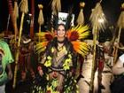 Luiza Brunet volta à Sapucaí e fala em ser rainha em 2018: 'Quem sabe?'