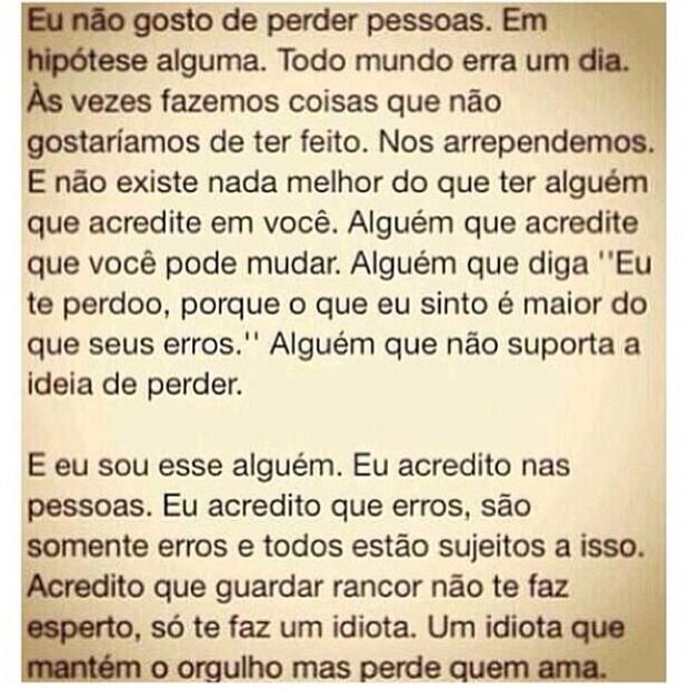 Nilcéia Oliveira posta desabafo (Foto: Instagram / Reprodução)