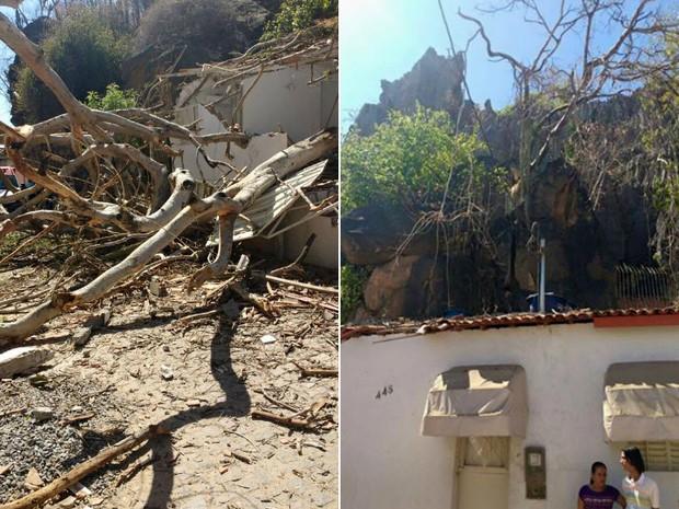 Apesar da casa ter ficado abstante comprometida, ninguém ficou ferido no acidente (Foto: Acervo/Página Lapa Capital)
