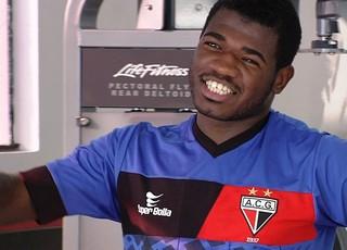 Feijão, técnico do Atlético-GO (Foto: Reprodução / TV Anhanguera)
