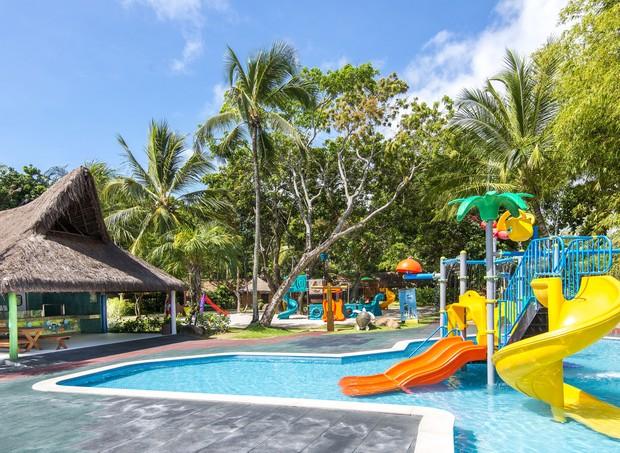 Careta Careta tem espaço aquático para as crianças (Foto: Divulgação)