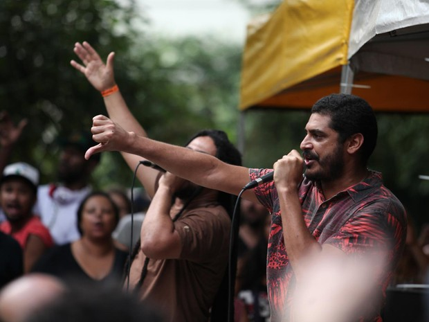 Criolo se apresenta na Virada Ocupação (Foto: Fabio Tito/G1)