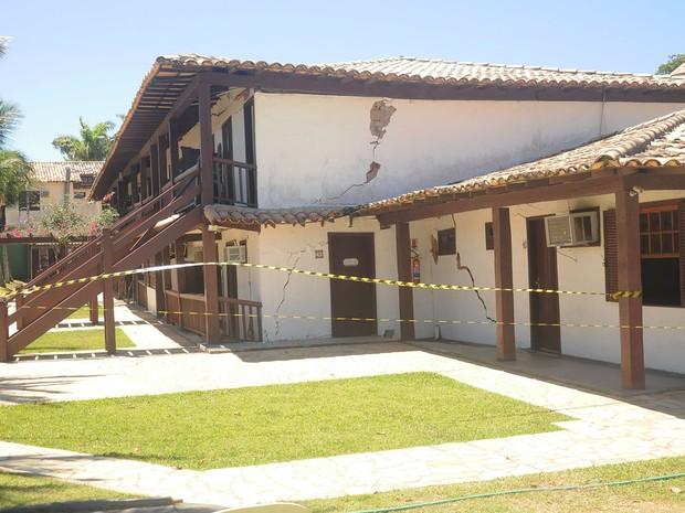 Condomínio Inn, onde 19 casas foram interditadas em Búzios, RJ (Foto: Divulgação/Defesa Civil de Búzios)