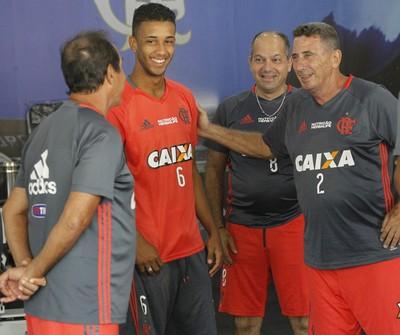 Jorge, Flamengo, Ninho (Foto: Gilvan de Souza/Fla Imagem)
