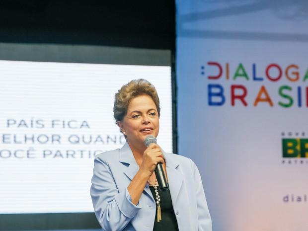 """A presidente Dilma Rousseff, durante a divulgação do """"Dialoga Brasil"""", em Recife (PE) (Foto: Roberto Stuckert Filho/PR)"""