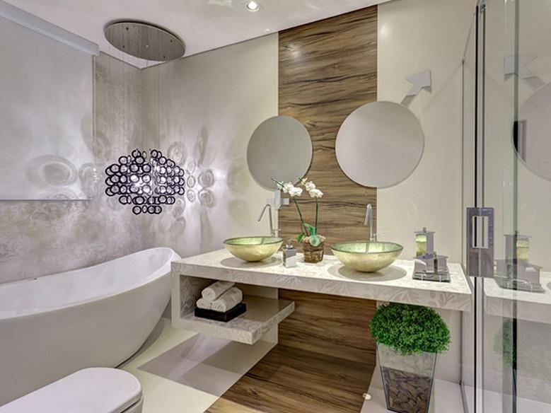 Banheiros decorados veja modelos modernos e econômicos  Casa  GNT -> Banheiros Sociais Modernos