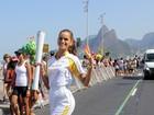 Famosos conduzem a tocha no dia da abertura da Olimpíada Rio 2016