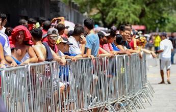 Com intensa procura e filas extensas, Sport inicia venda de ingressos na Ilha