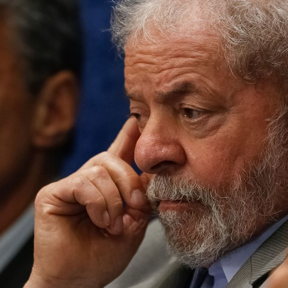 O ex presidente Luis Inácio Lula da Silva durante depoimento da presidente afastada Dilma Rousseff no processo de impeachment (Foto:  )